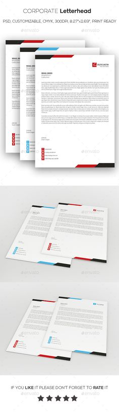 Business Letterhead Business and Letterhead - corporate letterhead