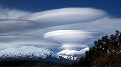 These lenticular clouds are known locally to New Zealanders as 'pets'.