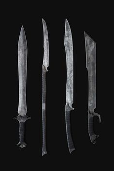 Sick apocalyptic hand-forged blades by Zombie Tools