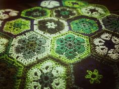 The Crocheting African Flowers Pool, with geodata