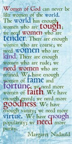 """It's time to make a difference, Women of God!     """"Not everyone who says to me, 'Lord, Lord,' will enter the kingdom of heaven, but only he who does the will of my Father who is in heaven. Many will say to me on that day, 'Lord, Lord, did we not prophesy in your name, and in your name drive out demons and perform many miracles?' Then I will tell them plainly, 'I never knew you. Away from me, you evildoers!'   MATTHEW 7:21-23"""