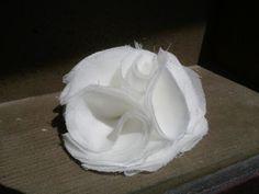 Wedding hair clip, bridal white, or flower girl hair clip
