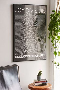 Joy Division Unknown Pleasures Poster - Urban Outfitters
