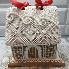 just in case you didn't have enough to do today… still fun to admire! Gingerbread House Designs, Gingerbread House Parties, Gingerbread Village, Christmas Gingerbread House, Christmas Sweets, Christmas Cooking, Noel Christmas, Christmas Goodies, All Things Christmas