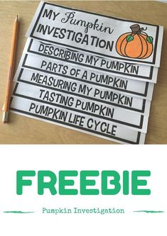 Pumpkin Investigation FREEBIE! Great for a FUN and engaging science activity!