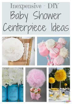 DIY baby shower decorating ideas that easy. Things you can make from the Dollar Store for your baby shower that are cheap centerpieces girl or boy. Diy Baby Shower Centerpieces, Baby Shower Decorations For Boys, Baby Shower Favors, Baby Shower Themes, Baby Shower Gifts, Shower Ideas, Centerpiece Ideas, Party Centerpieces, Wedding Decorations
