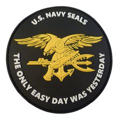 US Marine Navy Seals The Only Easy Day Was Yesterday DEVGRU NSWDG Morale PVC 3D Velcro Écusson Patch