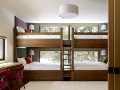 LOVE This.. are those full beds? it looks bigger than twin sized thats for sure. AND the top bunk doesnt look too close tot he ceiling. Maybe the ceilings are higher?