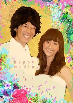 ウェルカムボード 似顔絵 http://wedding.mypic.jp/data/448