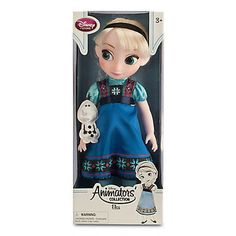 "disney store animator frozen elsa 16"" h doll toy with olaf new edition with box  #ldisneyart #disney"