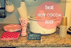 Put A Bird On It: Hot Cocoa Bar for Ava's First Birthday Party