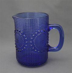 Lasi kaadin, Grapponia, Nanny Still Glass Design, Design Art, Vintage Kitchenware, Glass Pitchers, Glass Ceramic, Glass Collection, Scandinavian Design, Cobalt Blue, Finland