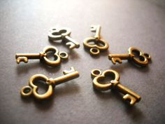 Hey, I found this really awesome Etsy listing at https://www.etsy.com/ca/listing/104306937/key-charms-bulk-keys-skeleton-keys