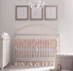 Washed Appliquéd Fleur Nursery Bedding Collection