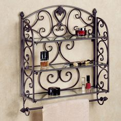 Aldabella Tuscany Slate Wall Shelf Towel Bar