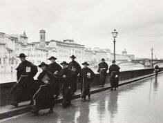 Monks along the Arno River, Florence 1935 by Alfred Eisenstaedt