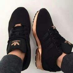 quality design 24e45 148dc Adidas ZX Flux black rose gold   women s sneakers by Dee Wardz