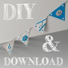 LoveAndLilies.de // Download: DIY Girlande Wimpelkette Happy Birthday