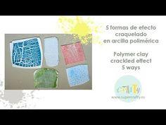 Efecto craquelado en arcilla polimérica - Polymer clay crackled effect - YouTube