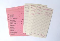 Vintage shopping game paper ephemera pack: by PinkFlamingoEphemera