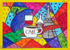 In the style of Romero Britto - Kids Artists: famous artists