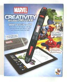 Marvel Creativity Studio Smart Stylus & App for iPad Hulk Avengers Spider-Man #Marvel