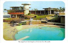 1958 postcard of Isle Dauphine Golf Club--Dauphin Island, AL