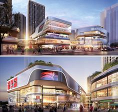 Pin by young bae on shopping malls - international Shopping Mall Architecture, Retail Architecture, Commercial Architecture, Futuristic Architecture, Architecture Design, Commercial Complex, Commercial Street, Commercial Center, Building Facade