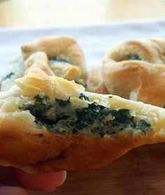 Spinach and Cream Cheese Crescents