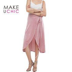 MAKEUCHIC Apparel Pink Sweet Women Skirt Casual Slim Basic Drawstring Female Skirt Streetwear Asymmetrical Sexy Velvet Skirt-in Skirts from Women's Clothing & Accessories on Aliexpress.com | Alibaba Group