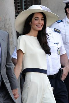 Amal Alamuddin Clooney (after their civil ceremony)http://laist.com/2014/09/29/photos_george_clooney_had_a_better.php#photo-18