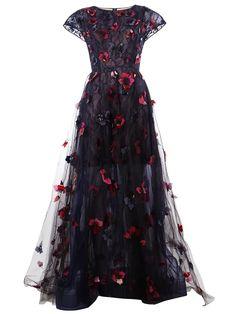 Oscar de la Renta laced gown