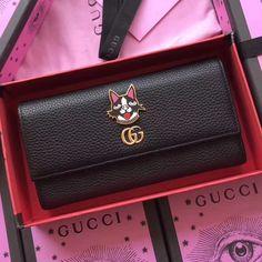 Gucci Leather Continental Wallet with Bosco 499324 Black 2018 ] : Real Bag Sale Gucci Handbags, Handbags Online, Gucci Wallet, Purse Wallet, Gucci 2018, Designer Bags For Less, Crossbody Bag, Tote Bag, Christmas Sale
