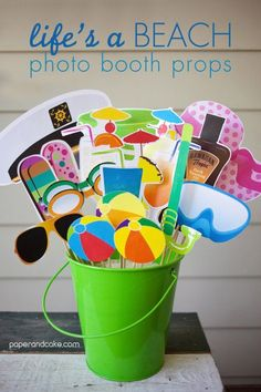 Cool DIY Beach Party Ideas | Life's a Beach Photo Booth Props by DIY Ready at http://diyready.com/amazing-diy-beach-party-ideas/