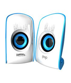 A cute pair of glossy speakers by Zebronics that resemble a pair of eyes. These multimedia speakers are USB powered for easy connectivity to your PC. The highlight of these speakers is the colour changing LED base stand that adds an element of attractiveness. It has a user-friendly volume controller dial. Carry these along wherever you go to never part with your music.compare price and buy online.