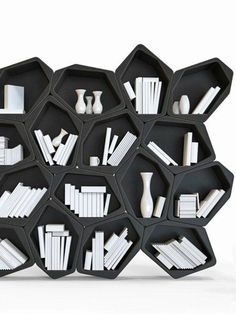 With all the abstract and converging lines this bookshelf would definitely make…