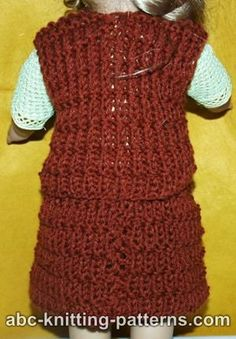 ABC Knitting Patterns - American Girl Doll Skirt.