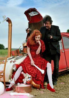 Karen Elson & Tim Burton.