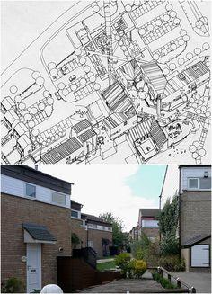 Housing at Eaglestone, Milton Keynes by Ralph Erskine Image Chart, Milton Keynes, View Image, Louvre, Mid Century, Postwar, Retro, Ark, City