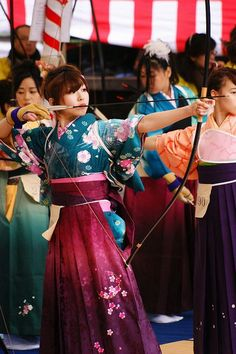 Toh-shiya (Archery Contest) at Sanjusangen-do Temple, Kyoto, Japan
