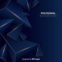 Dark and golden polygonal background Turquoise Background, Dark Blue Background, Geometric Background, Textured Background, Geometric Shapes, Abstract Paper, Blue Abstract, Neon Backgrounds, Theme Template