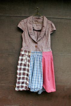 Fall Plaid Dress, Country Girl, Junk Gypsy, Grunge, Steampunk, Romantic