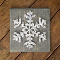 Snowflake String Art Christmas String Art by 4Lovecustomgifts: