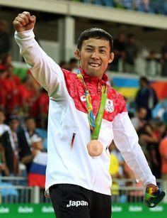 8月6日 柔道 男子60kg級 3位決定戦 高藤選手も粘って優勢勝ちで銅メダル! おめでとう‼︎(^∇^)