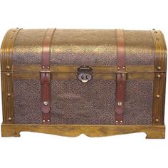 @Overstock   This Beautiful Wood Trunk Features Old Fashioned Hardware For  An Antique Look.