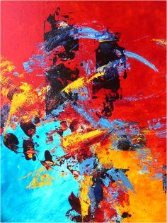 les deux tours peinture art abstrait technique acrylique vitrail - Peinture Acrylique Ou Glycero Difference