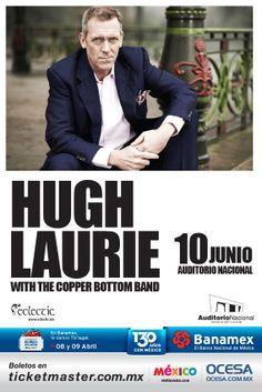 Hugh Laurie Blues Band, 10 de junio, Auditorio Nacional #HughLaurieMx