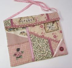 Shabby Chic Purse Patchworked