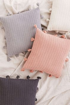 Sage Solid Crochet Pillow - Urban Outfitters
