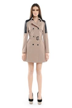 The perfect spring trench w/ leather quilting by Mackage, $495